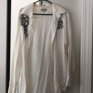 Men's white button up shirt